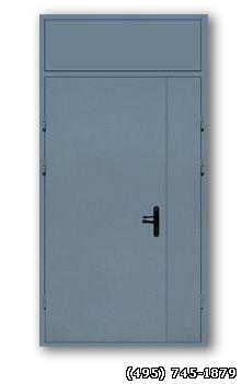 дверь металлическая с армированной фрамугой