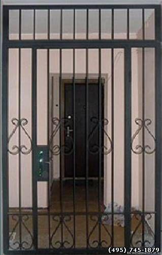 железные решетчатые двери в тамбур