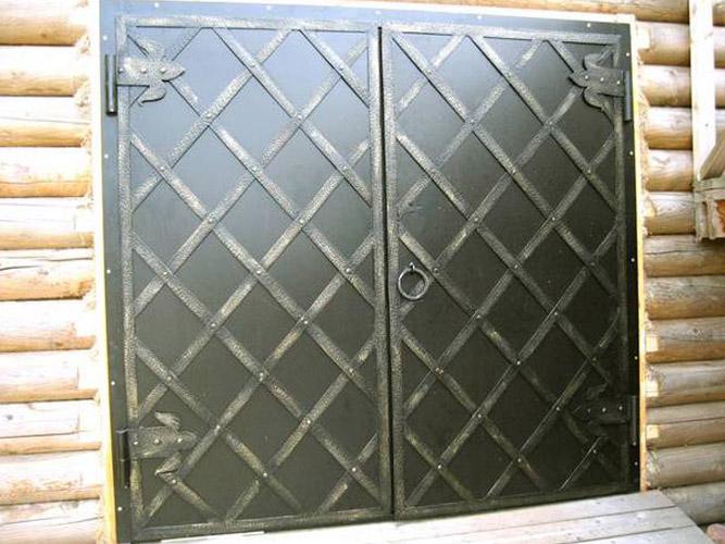 железная дверь и ставни
