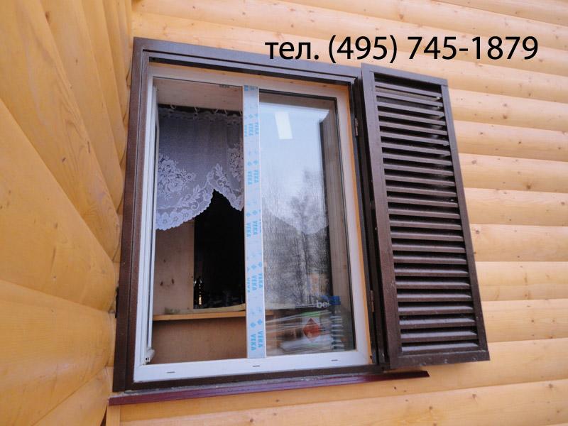 Ставни из металла на окна в дачном доме своими руками 51
